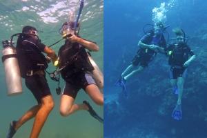 divers split